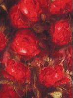 Çiçek Desenli İpek Saten - S0017