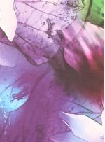 Çiçek Desenli İpek Saten - S0018