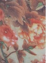Çiçek Desenli İpek Şifon Kumaş - S0020