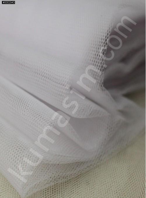 Süslemelik ve Elbiselik Beyaz Grek Tül Kumaş C13 - S0061