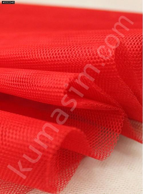Süslemelik ve Elbiselik Kırmızı Grek Tül Kumaş C17 - S0061
