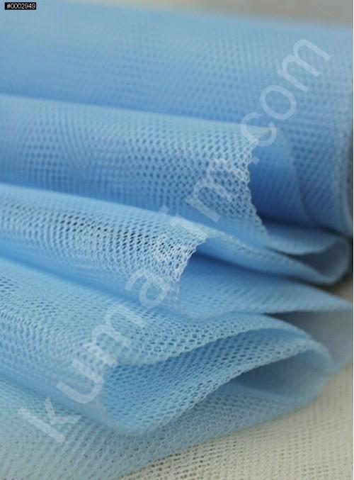 Süslemelik ve Elbiselik Mavi Grek Tül Kumaş C65 - S0061