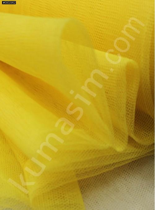 Süslemelik ve Elbiselik Sarı Grek Tül Kumaş C27 - S0061