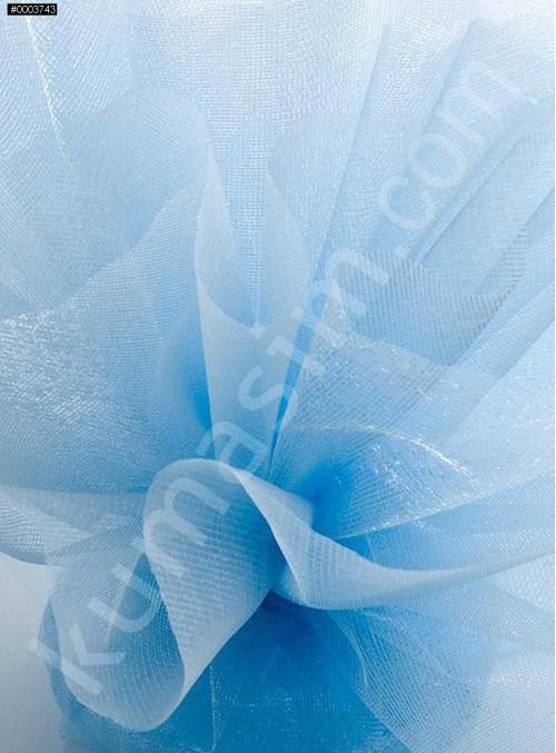 Açık Mavi Kristal Tül Kumaş c44 - S0098