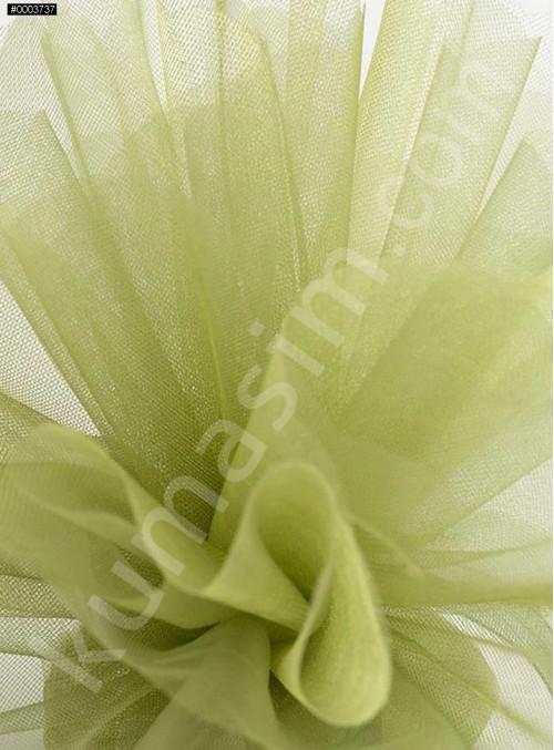 Açık Yeşil Kristal Tül Kumaş c16 - S0098