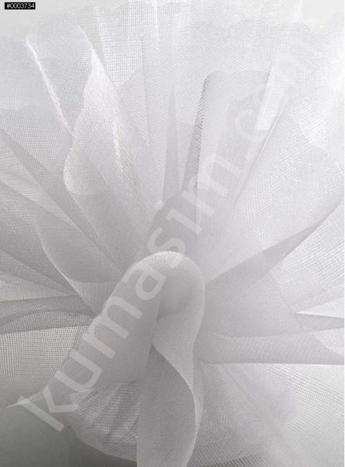 Beyaz Kristal Tül Kumaş c1 - S0098
