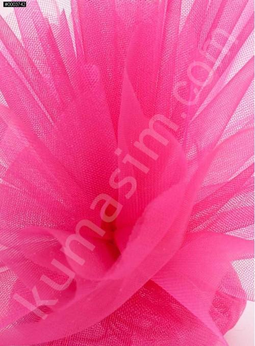 Fuşya Kristal Tül Kumaş c37 - S0098