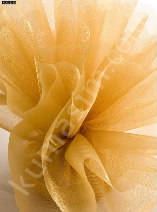 Gold Kristal Tül Kumaş c25 - S0098