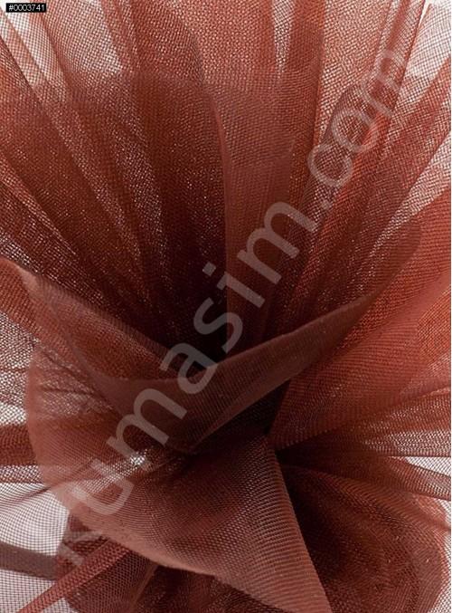 Kahverengi Kristal Tül Kumaş c1 - S0098