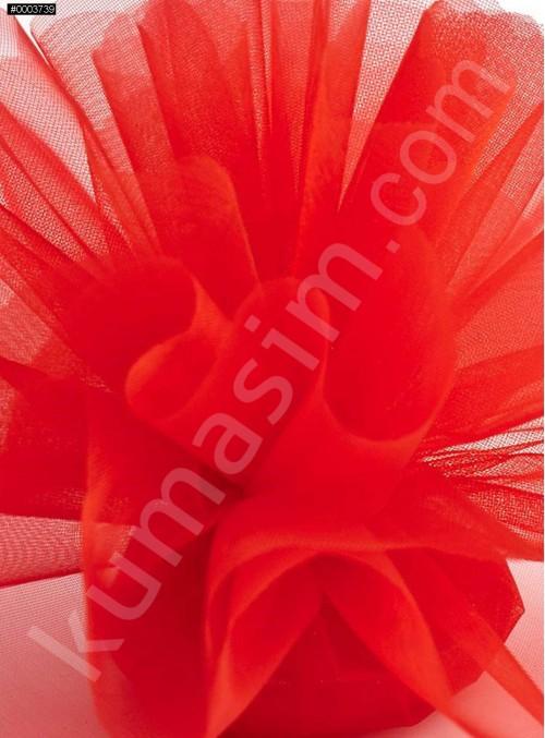 Kırmızı Kristal Tül Kumaş c8 - S0098