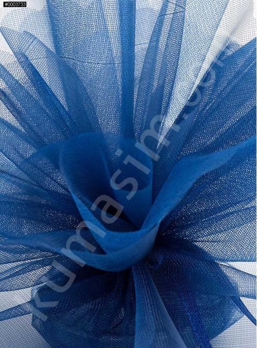Koyu Mavi Kristal Tül Kumaş c23 - S0098