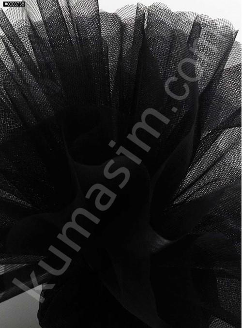 Siyah Kristal Tül Kumaş c7 - S0098