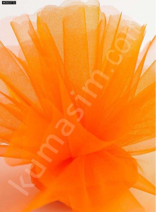 Turuncu Kristal Tül Kumaş c32 - S0098
