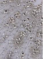 Swarovski Taşlı ve Boncuklu Beyaz Büstiyer - A0279