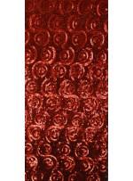 Desenli ve Yoğun Payetli Kırmızı Kumaş - K100
