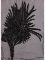 Swarovski Taşlı ve İnci Boncuklu Siyah Büstiyer - A1029