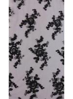 Aplike Kesilebilir Siyah Kordoneli Kumaş - K10615