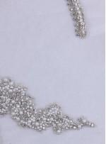 Kertenkele Desenli Swarovski Taşlı ve Boncuklu Beyaz Büstiyer - A11392