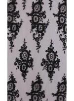 Aplike Kesilebilir Siyah Kordoneli Kumaş - K11899