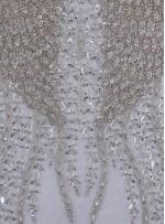 Gelinlik ve Nişanlık Yoğun Swarovski Taşlı Beyaz Büstiyer - A1258