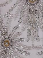 Swarovski Taşlı ve Boncuklu Gümüş - Gold Aplike - A1261