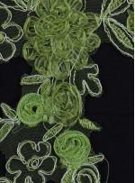 Gelinlik ve Nişanlık 3 Boyutlu Yeşil Aplike - K14095