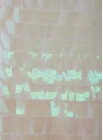 Kemik - Hologram Büyük Dikdörtgen Payetli Kumaş - K201