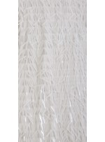 Beyaz Büyük Çubuk Payetli Kumaş - K203