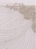 Gelinlik ve Nişanlık Swarovski Taşlı Boncuklu Beyaz C1 Büstiyer - A0206