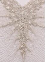Gelinlik ve Nişanlık Swarovski Taşlı Boncuklu Beyaz Büstiyer - A178