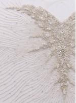 Gelinlik ve Nişanlık Swarovski Taşlı Boncuklu Beyaz C1 Büstiyer - A0208