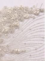 Gelinlik ve Nişanlık Swarovski Taşlı Boncuklu Beyaz C2 Büstiyer - A0208