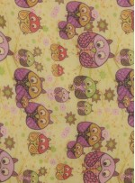 Çocuklar İçin Sevimli Karakter İçeren İpek Şifon Kumaş - K288