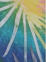 Güneş Desenli İpek Empirme Şifon Kumaş - K292