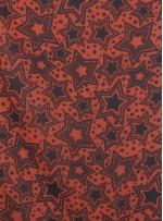 Yıldız Desenli Emprime Taba Şifon Kumaş - K297