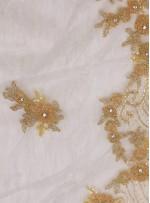 Gelinlik ve Nişanlık Çiçek Desenli Payetli - Boncuklu - Taşlı Gold Kumaş - K29832