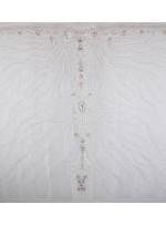 Etnik Desenli Swarovski Taşlı ve Payetli Beyaz Kupon Elbise - A29883