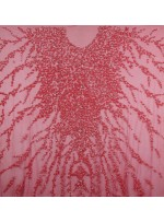 Yoğun Swarovski Taşlı - Payetli ve Boncuklu Kırmızı Kupon Elbise - A30122