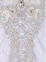 Gelinlik Swarovski Taşlı - Payetli ve Boncuklu Kupon Beyaz Elbise - A30257