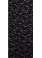 Dantel Üzeri Simli Siyah Kumaş - K3047