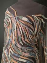 Karışık Yol Desenli Rengarenk Payetli ve Boncuklu Kupon Elbise - A30965
