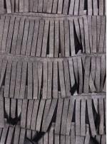 Şerit Saçaklı Suni Gri Deri Kumaş - K3099