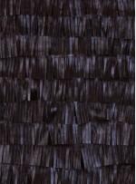 Şerit Saçaklı Suni Kahverengi Deri Kumaş - K3099