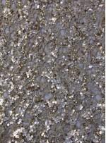 File Üzeri Payet Kumaş - Gold - K3128