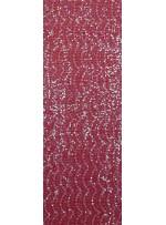 Dantel Üzeri Payet Kumaş - Kırmızı - K3175