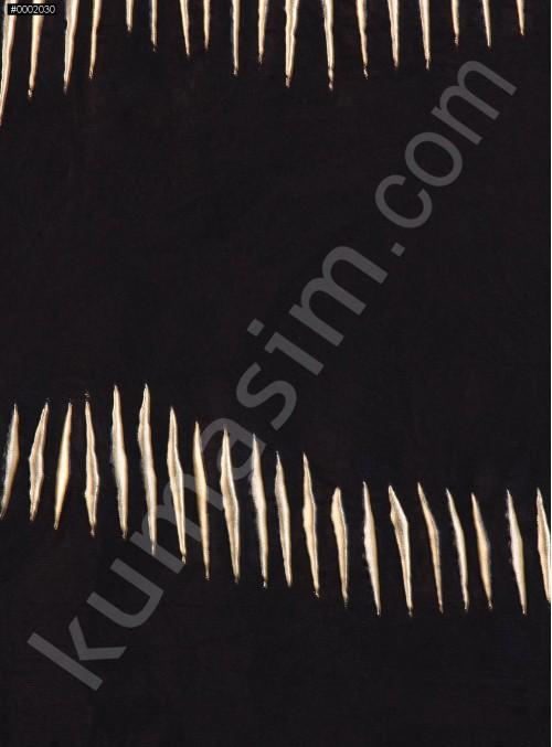 Jarse Üzeri Gold İşlemeli Kumaş - K3190