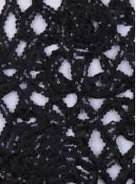 Lase Üzeri Payetli Kumaş - Siyah - K3201
