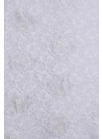 Dantel Üzeri 3 Boyutlu Organze Çiçekli Kemik Kumaş - K3211