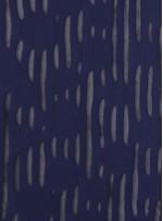 Daire ve Çizgi Desenli Lacivert Örme Kumaş - K3239