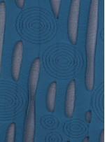 Daire ve Çizgi Desenli Petrol Örme Kumaş - K3239